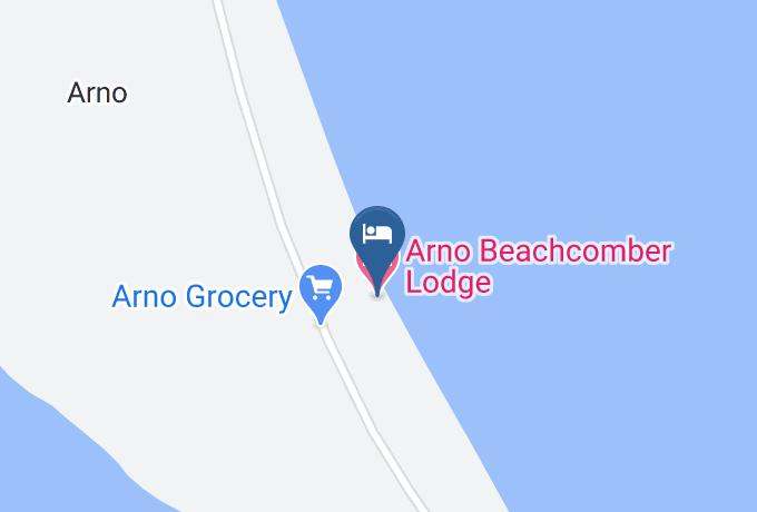 Arno Beachcomber Lodge Map - Marshall Islands - Majuro