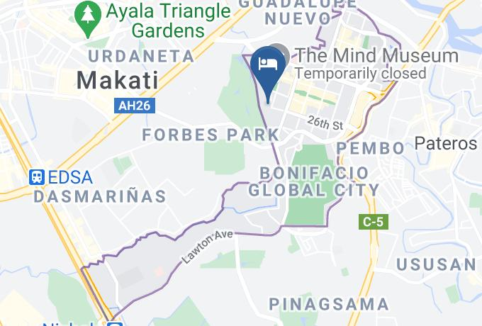 Avant Serviced Suites Personal Concierge Map - National Capital Region - Metro Manila