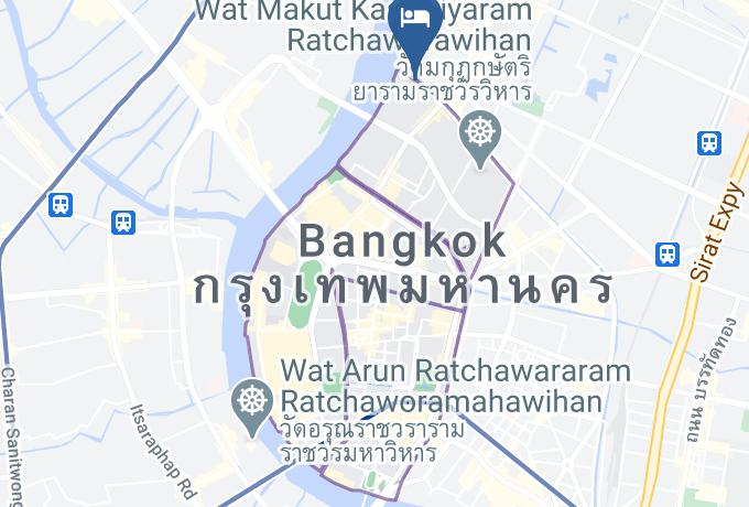 Baan Manusarn Guest House & Cafe Map - Bangkok City - Phra Nakhon