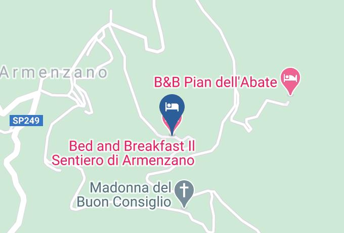 Bed And Breakfast Il Sentiero Di Armenzano Carta Geografica - Umbria - Perugia