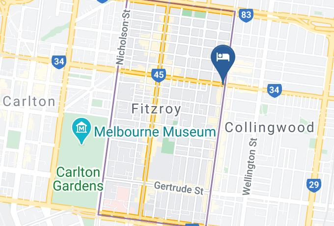 District Apartments Fitzroy Map - Melbourne - South Yarra