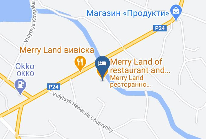 Hotel Merry Land Map - Ivano Frankivsk - Horodenka Raion
