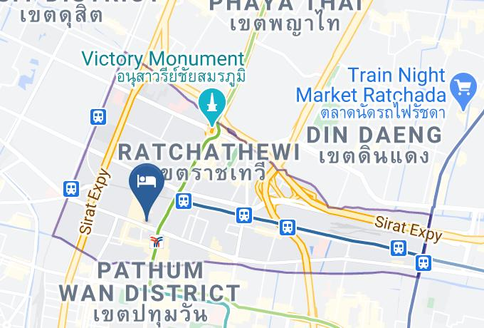 Private Stay Hostel Map - Bangkok City - Ratchathewi