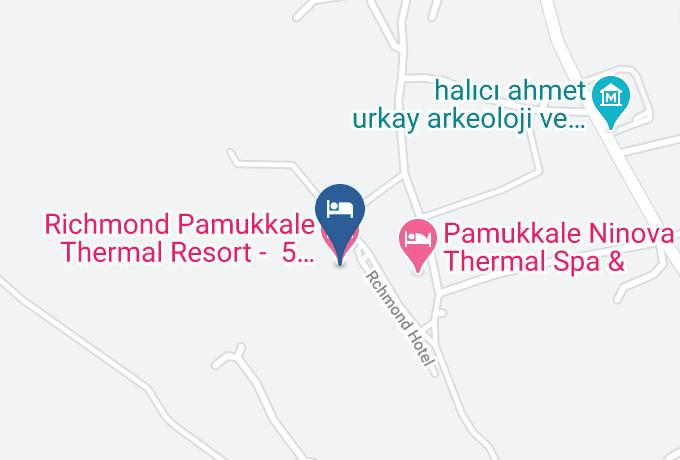 Richmond Pamukkale Thermal Resort 5 Yildizli Termal Hotel Denizli Harita - Denizli - Pamukkale