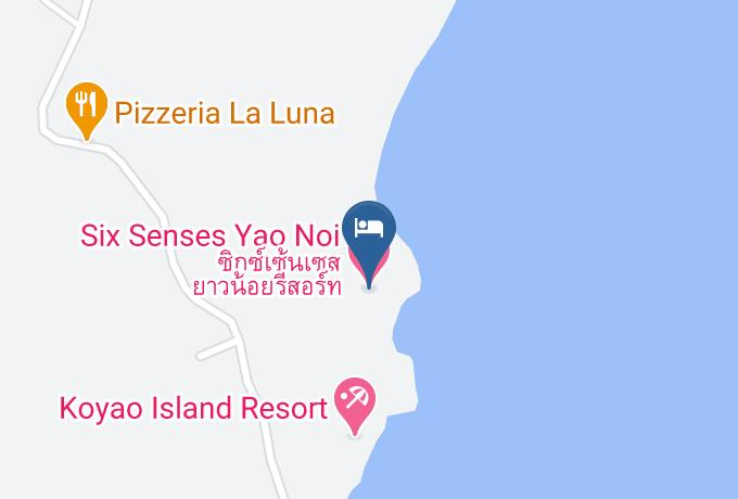 Six Senses Yao Noi Map - Phangnga - Amphoe Ko Yao