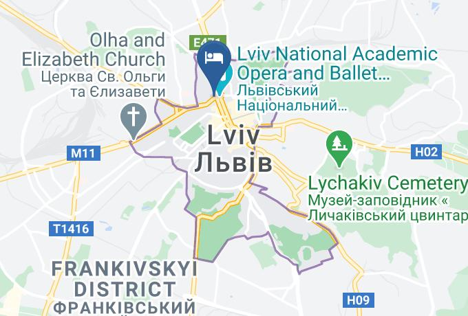 Sleep Inn Map - Lviv