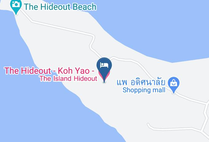 The Island Hideout Map - Phangnga - Amphoe Ko Yao